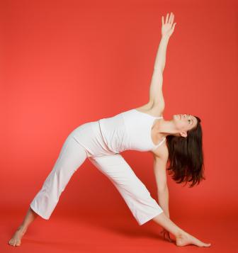 yoga pose triangle pose  yogaclassplan