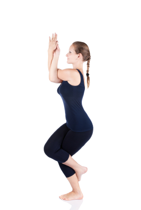 yoga pose eagle pose  yogaclassplan