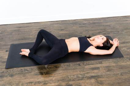Yoga Poses. Reclining Bound Angle ...  sc 1 st  Yoga Class Plans & Yoga Pose: Reclining Bound Angle Pose | YogaClassPlan.com islam-shia.org