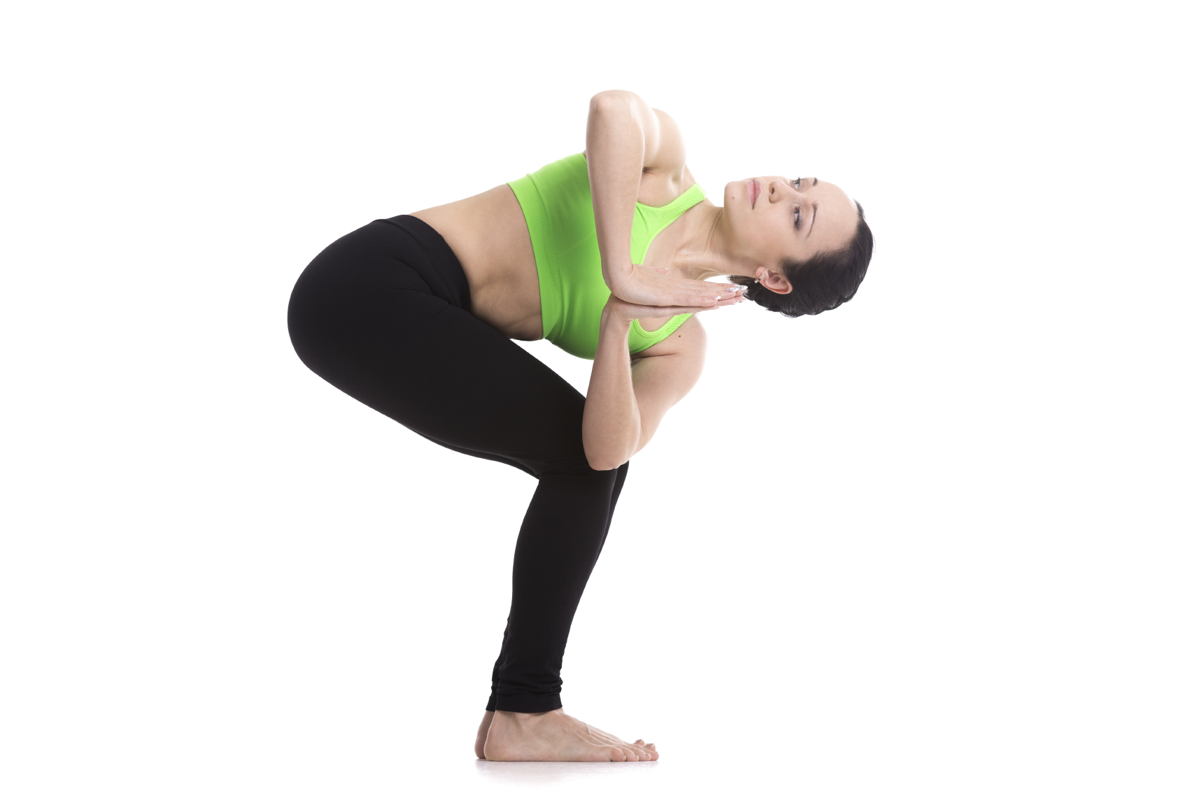 Yoga Pose Revolved Chair Pose