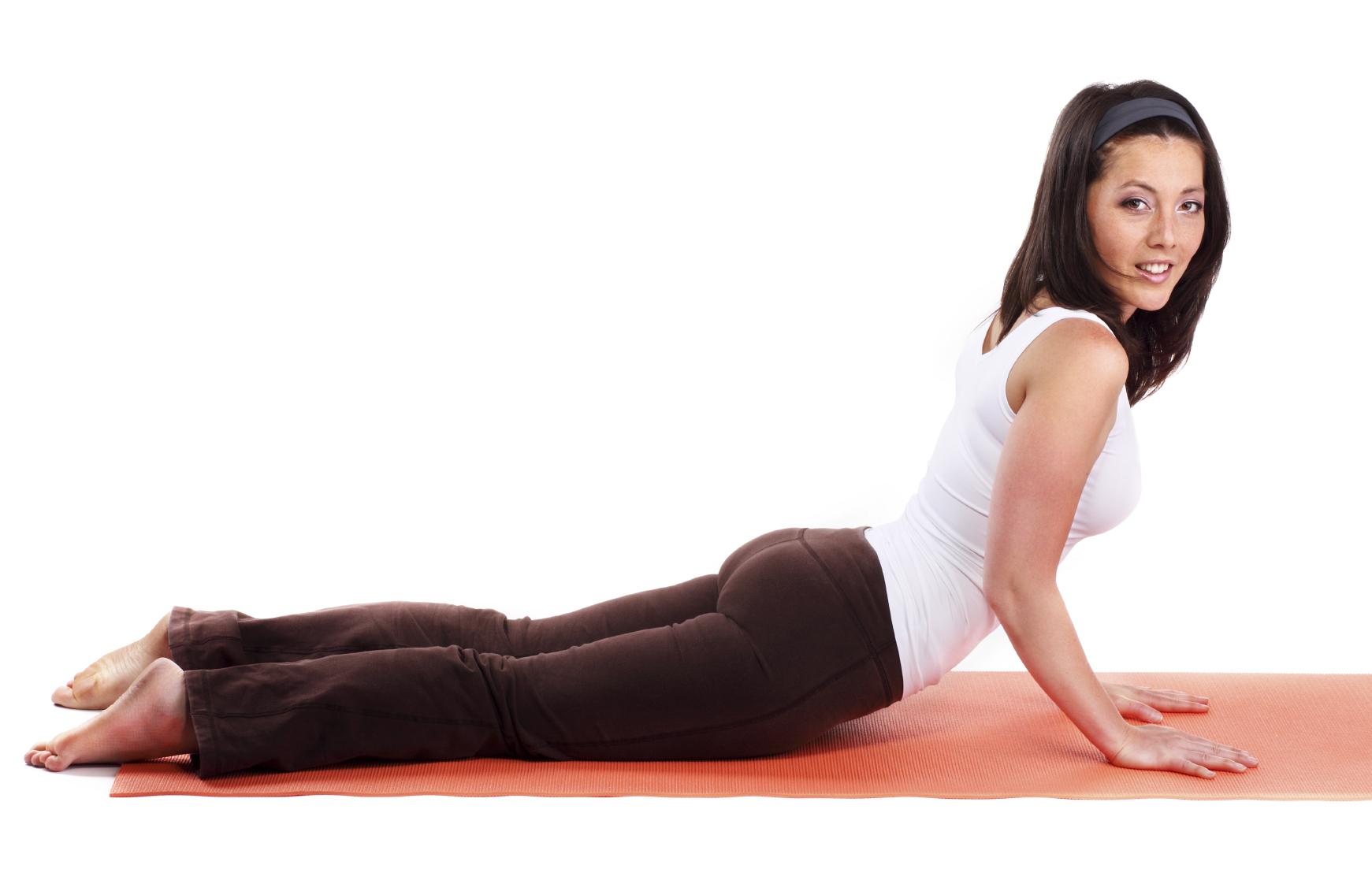 Yoga Pose: Twisting Cobra pose  YogaClassPlan.com